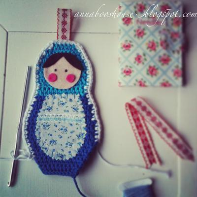 How to make a babushka plushie. Matryoshka Hanging Doll - Step 2