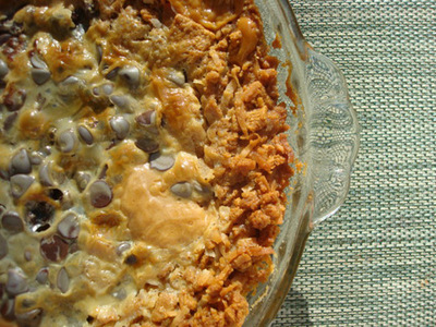 How to bake a cookie pie. Magic Cookie Bar Pie - Step 9