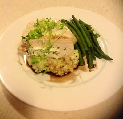 How to cook a chicken dish. Lemon, Thyme And Feta Stuffed Chicken Breast - Step 6