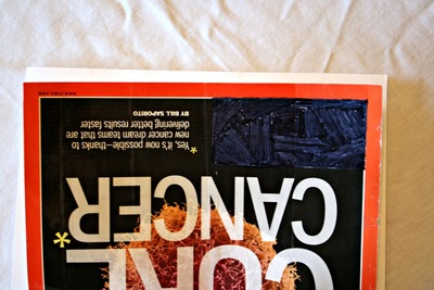 How to make a recycled book. Magazine Cover Notebook - Step 6