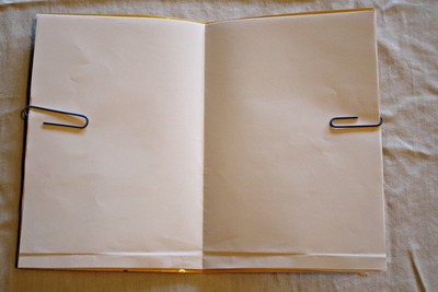 How to make a recycled book. Magazine Cover Notebook - Step 9