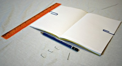 How to make a recycled book. Magazine Cover Notebook - Step 10