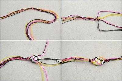 How to braid a necklace. Mother S Day Handmade Gifts  Stone Necklace Patterns For Mom  - Step 2