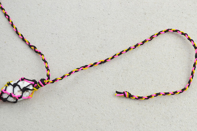 How to braid a necklace. Mother S Day Handmade Gifts  Stone Necklace Patterns For Mom  - Step 4