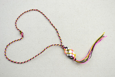 How to braid a necklace. Mother S Day Handmade Gifts  Stone Necklace Patterns For Mom  - Step 5