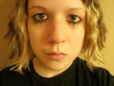 How to create an animal print eye makeup look. Emilie Autumn Makeup - Step 2