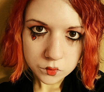 How to create an animal print eye makeup look. Emilie Autumn Makeup - Step 6