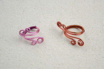 How to make a wire swirl ring. Wire Ring Diy   To Create Mothers Ring  With A Pair Of Angle Wings  - Step 5
