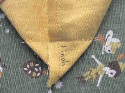 How to stitch an embroidered tote. Mini Tote Bag - Step 4