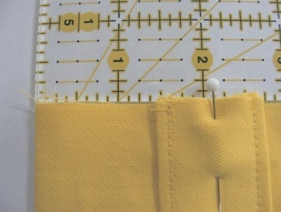 How to stitch an embroidered tote. Mini Tote Bag - Step 5