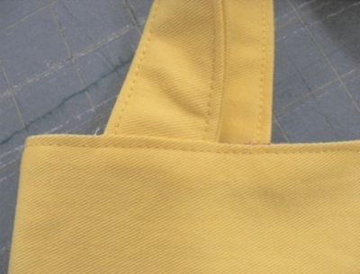 How to stitch an embroidered tote. Mini Tote Bag - Step 9