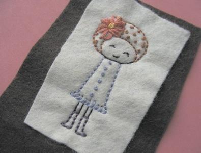 How to stitch an applique pouch. Gizmo Cozy - Step 8
