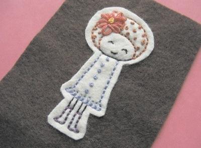 How to stitch an applique pouch. Gizmo Cozy - Step 9