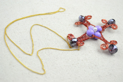 How to make a cross pendant. Mother S Day Necklace  Create Wire Wrapped Cross Necklaces For Women  - Step 5