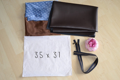 How to make a leather clutch. Foldable Leather Polka Dot Clutch - Step 1