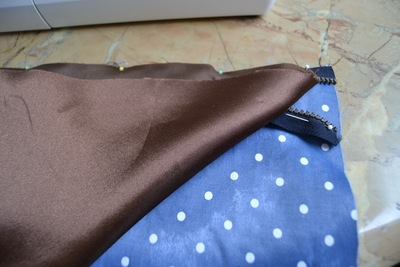 How to make a leather clutch. Foldable Leather Polka Dot Clutch - Step 2