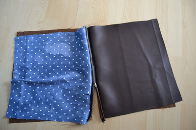 How to make a leather clutch. Foldable Leather Polka Dot Clutch - Step 3