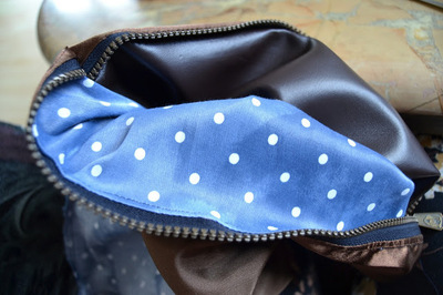 How to make a leather clutch. Foldable Leather Polka Dot Clutch - Step 6