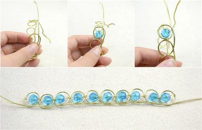 How to make a wire bracelet. Wire Bracelets Diy A Personalized Jewelry For Mothers  - Step 3