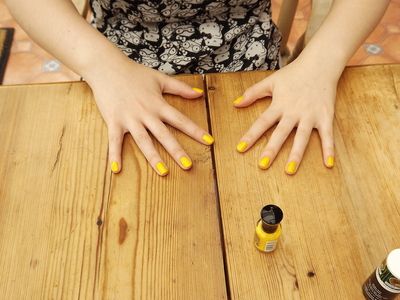 How to paint lightning bolt nail art. High Voltage Nails - Step 3