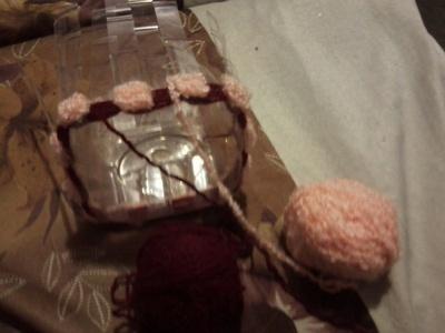 How to stitch a knit or crochet basket. Crochet Basket - Step 8
