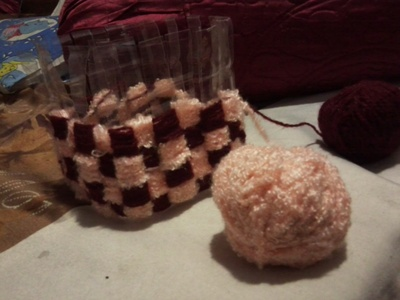 How to stitch a knit or crochet basket. Crochet Basket - Step 10