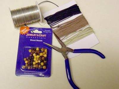 How to braid a braided bead bracelet. Double Bracelet - Step 1