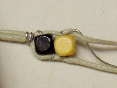 How to braid a braided bead bracelet. Double Bracelet - Step 3