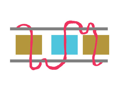 How to braid a braided bead bracelet. Double Bracelet - Step 4