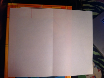 How to make a greetings card. Father's Day Tie Card - Step 2