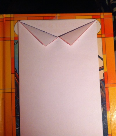 How to make a greetings card. Father's Day Tie Card - Step 3