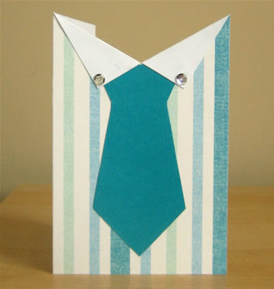 How to make a greetings card. Father's Day Tie Card - Step 5