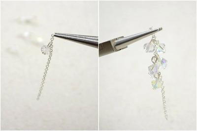 How to make a pair of pearl earrings. Diy Vintage Jewelry  Handmade Earrings With Pearl Lantern And Crystal Tassel  - Step 3