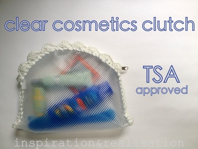 How to make a pouch, purse or wallet. Make A Transparent Cosmetics Clutch - Step 9