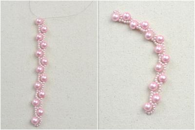 How to make a pearl bracelet. Diy Bracelets With Beads  Wavy Bracelet Crafts For Kids  - Step 3