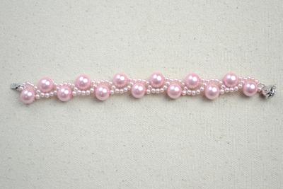 How to make a pearl bracelet. Diy Bracelets With Beads  Wavy Bracelet Crafts For Kids  - Step 5