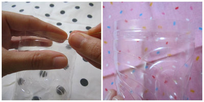 How to make a pot. Plastic Bottle Container - Step 3