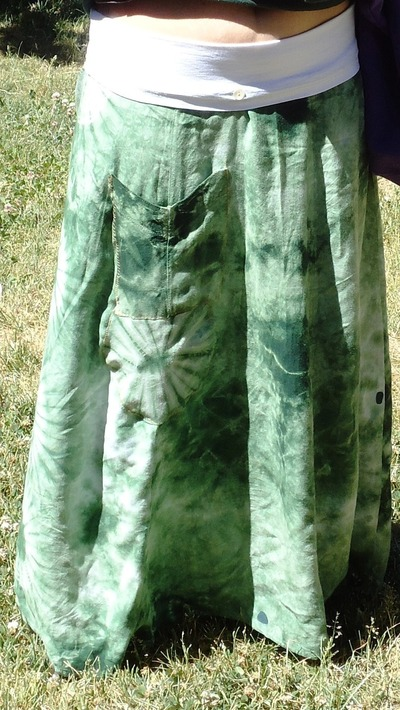 How to recycle a dress into a skirt. Old Dress To Maxi Skirt With Yoga Style Waist Band - Step 1