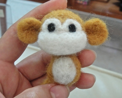 How to make a monkey plushie. Felted Monkey - Step 15