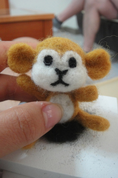 How to make a monkey plushie. Felted Monkey - Step 18