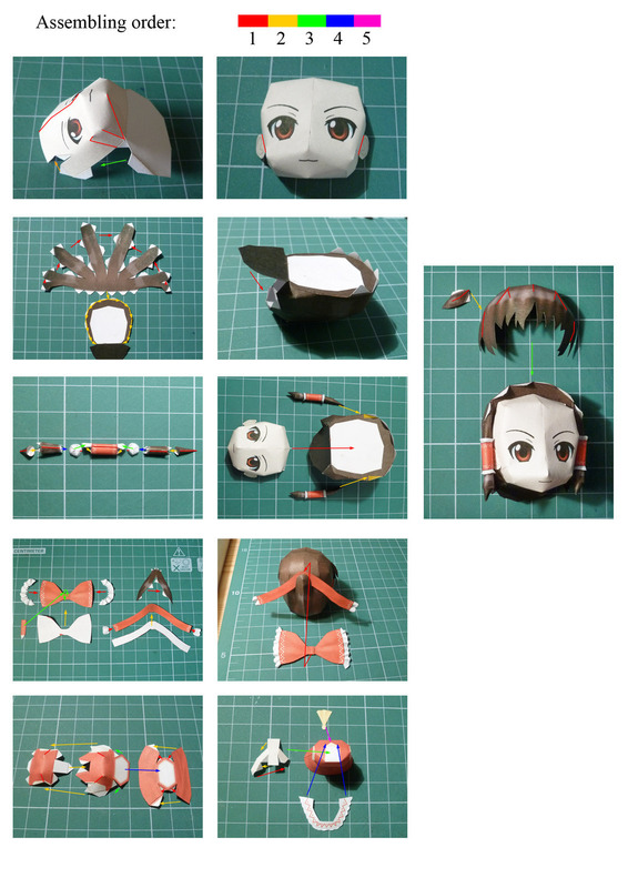Reimu Touhou Papercraft Chibi 183 How To Make A Paper