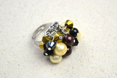 How to make a cluster ring. Cheap Diy Crafts How To Make Birthstone Rings - Step 5
