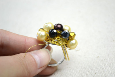 How to make a cluster ring. Cheap Diy Crafts How To Make Birthstone Rings - Step 8
