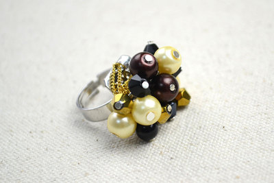 How to make a cluster ring. Cheap Diy Crafts How To Make Birthstone Rings - Step 9
