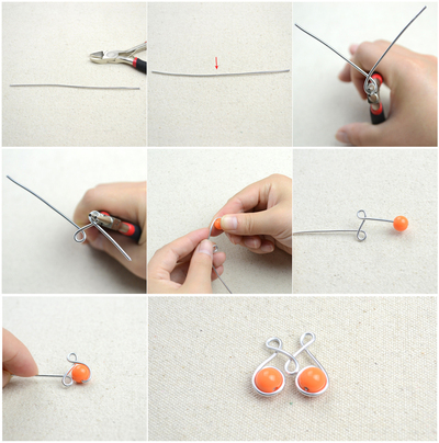 How to make a pair of chandelier earrings. Craft Jewelry Ideas Pair Of Dainty Wire Wrapped Earrings  - Step 2