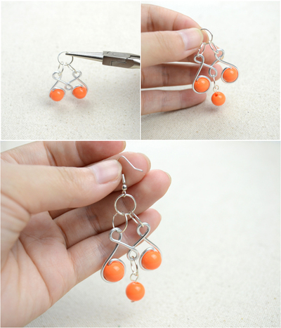How to make a pair of chandelier earrings. Craft Jewelry Ideas Pair Of Dainty Wire Wrapped Earrings  - Step 4