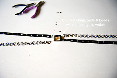 How to make a watch. Mixed Bracelet Watch Bands - Step 2