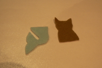 How to sew a fabric animal brooch. Mer Cat Brooch - Step 1