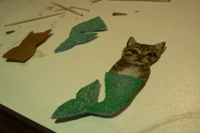 How to sew a fabric animal brooch. Mer Cat Brooch - Step 2
