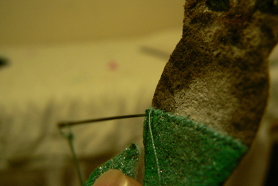 How to sew a fabric animal brooch. Mer Cat Brooch - Step 3